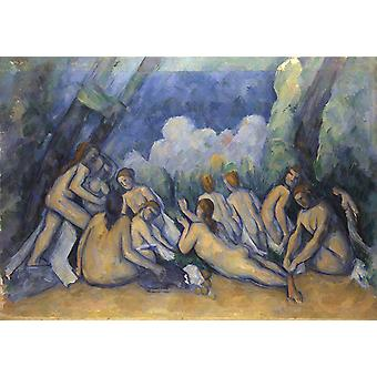 Les grandes baigneuses, Paul Cezanne, 40x60cm with tray