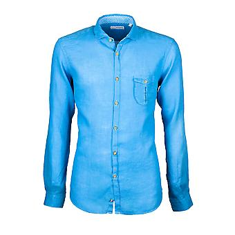 Fabio Giovanni Martano Shirt - High Quality Mens Italian Linen Shirt - Floral Print Shirt