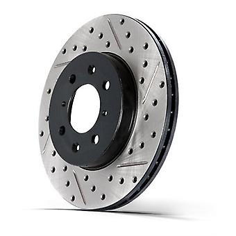 StopTech 127.66074L Sport Drilled/Slotted Brake Rotor (Front Left), 1 Pack