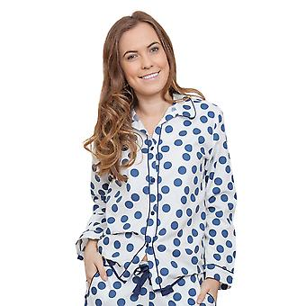 Cyberjammies 3842 Frauen Zoe White Spotted Pyjama Pyjama Top