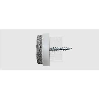 SWG 684 120 240 80 Felt slider screw fixing, circular White (Ø) 24 mm 4 pc(s)