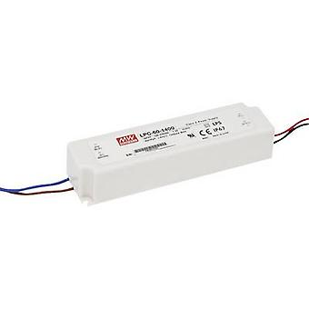Mean Well LPC-60-1400 LED driver Constant current 58.8 W 1.4 A 9 - 42 Vdc not dimmable, Surge protection