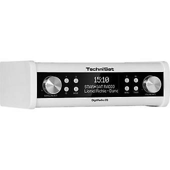 TechniSat DigitRadio 20 DAB+ Kitchen radio, Radio base component AUX, DAB+, FM White