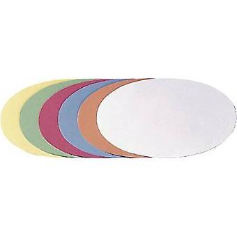 Franken Cards Assorted colours ovale 11 cm x 19 cm 500 pcs/pack