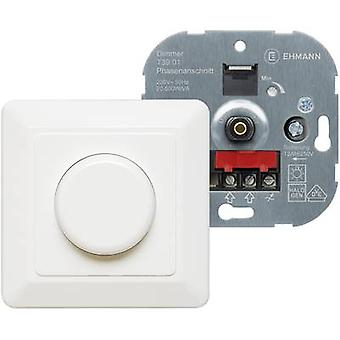 Ehmann 3960c0120 Flush-mount dimmer Suitable for light bulbs: Light bulb, Halogen lamp Pure white