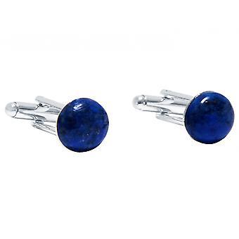 Gemshine - mancuernas - oro - 925 - azul - plata 12 mm