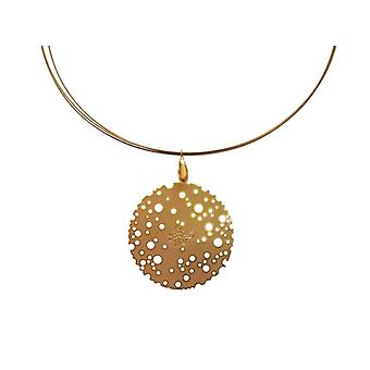 Gemshine - ladies - necklace - pendants - gold plated - 4 cm