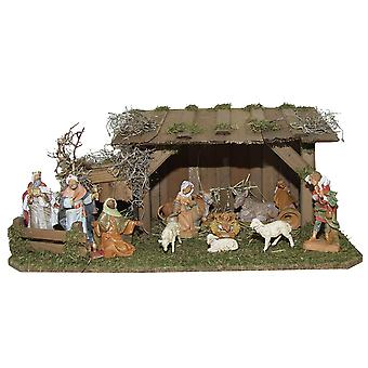 Crib Nativity scene wood Nativity stable Philip hand work for characters up to 9 cm