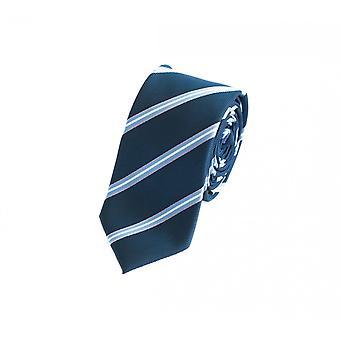 Cravatta cravatta cravatta 6cm blu Fabio Farini bianco zebrato