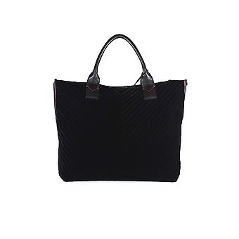 PINKO BLACK VELVET ARARAT LARGE SHOPPER