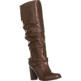 Style & Co. SC35 Sophiie Knee High Slouch Boots, Cognac