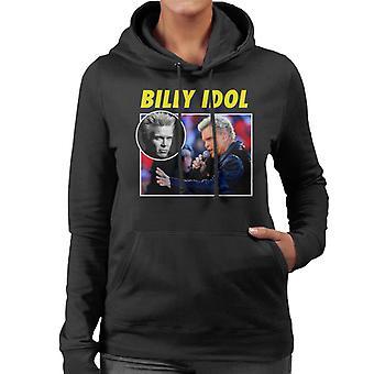 Billy Idol Tribute Montage Women's Hooded Sweatshirt
