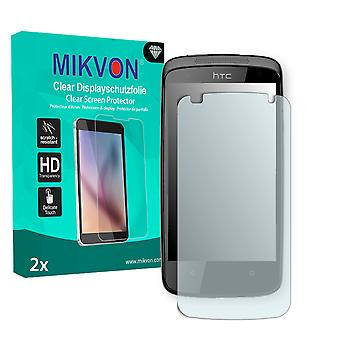 HTC Z4 Screen Protector - Mikvon Clear (Retail Package with accessories) (intentionally smaller than the display due to its curved surface)