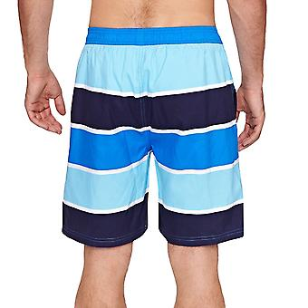Zoggs Mens Wategos 19inch Swimming Swim Striped Mesh Lined Shorts - Blue