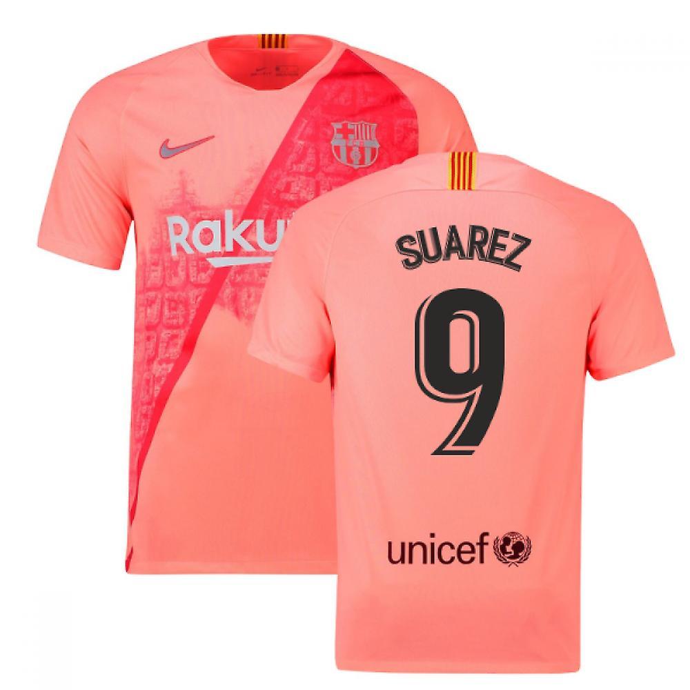 2018-2019 Barcelona Third Nike Football Shirt (Suarez 9)