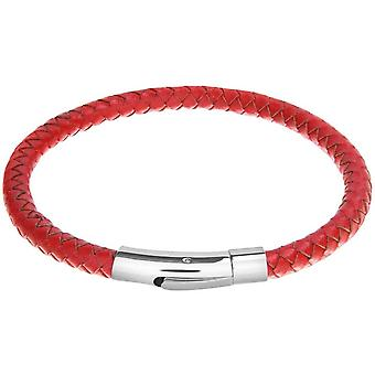 David Van Hagen Leather Bracelet - Red