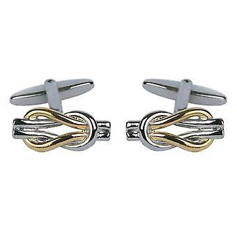 David Van Hagen Love Knot Cufflinks - Silver/Gold