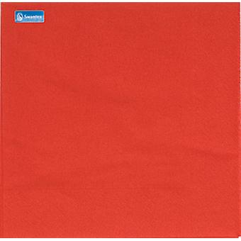 Swantex 2 Ply Red Napkins 33cm