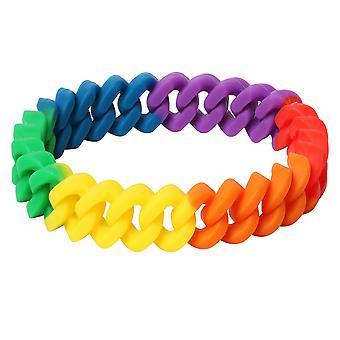 TRIXES Rainbow flettet armbånd