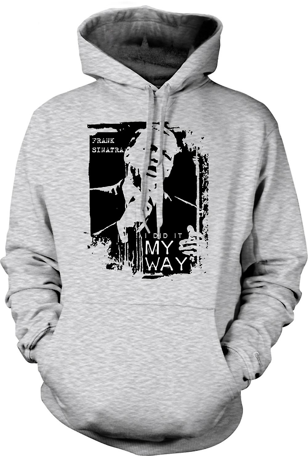 Mens Hoodie - Frank Sinatra My Way - Swing