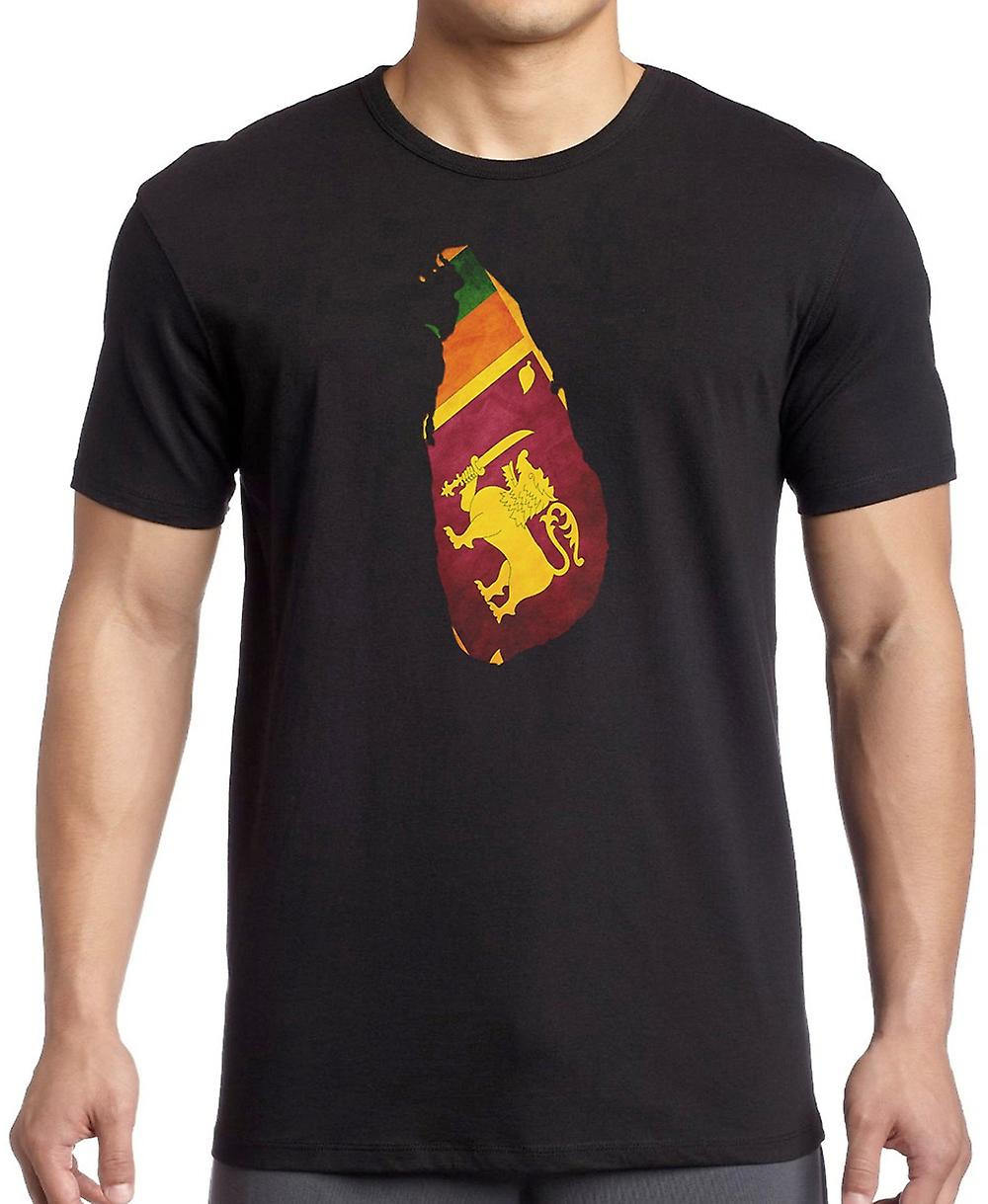 Mappa di Sri Lanka Flag Kids T-Shirt
