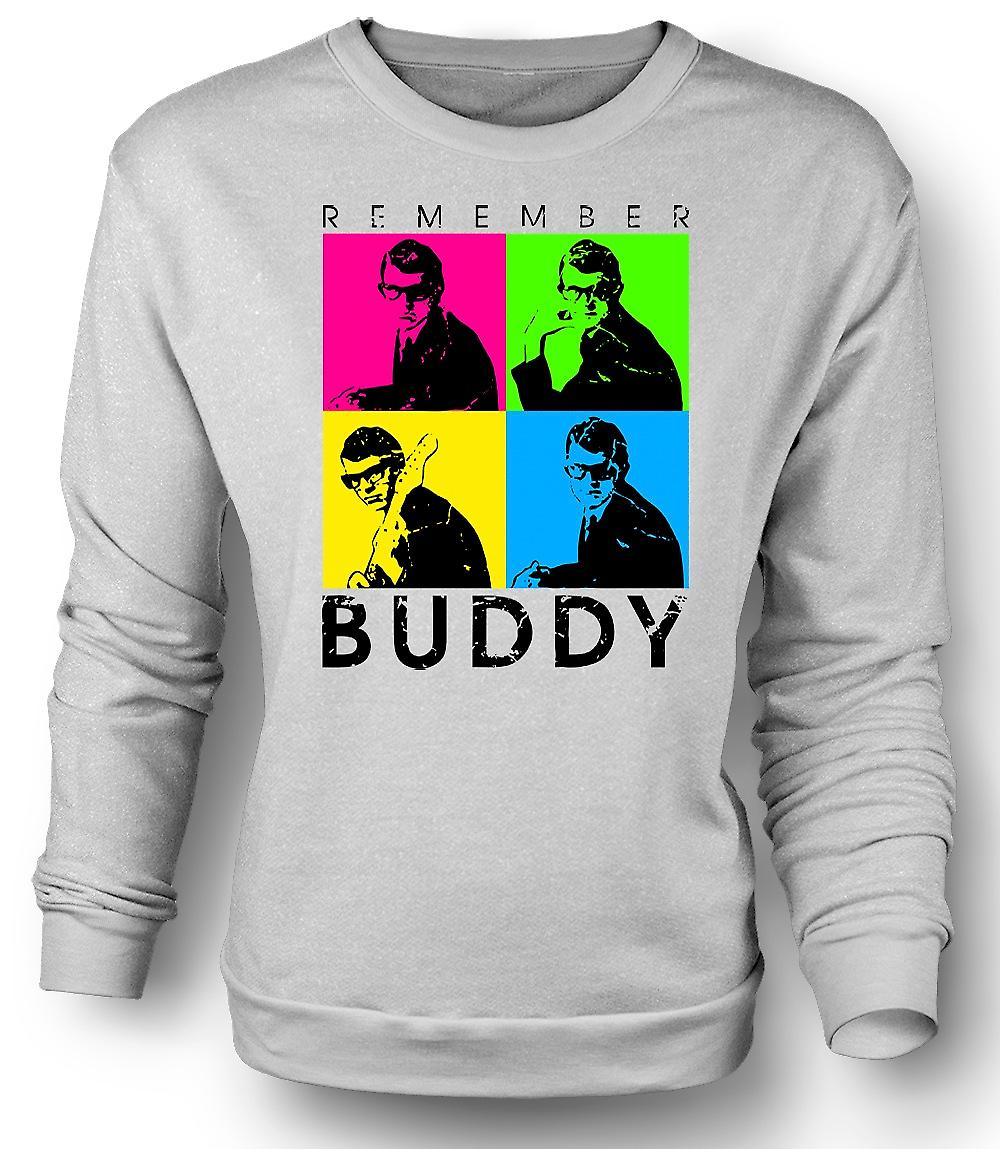 Mens Sweatshirt Buddy Holly n'oubliez pas