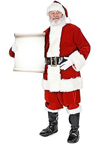 Santa with Small Sign (Christmas) - Lifesize Cardboard Cutout / Standee