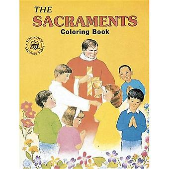 Färgläggningsschemat bok om sakramenten