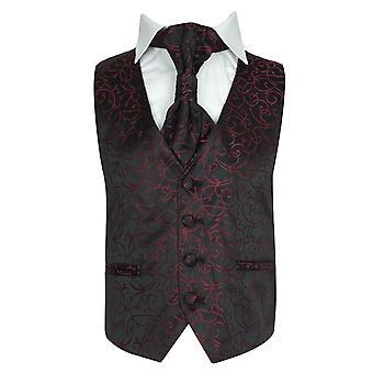 Boys Cravat & Waistcoat - Red