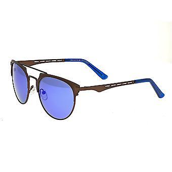 Breed Hercules Titanium Polarized Sunglasses - Brown/Blue