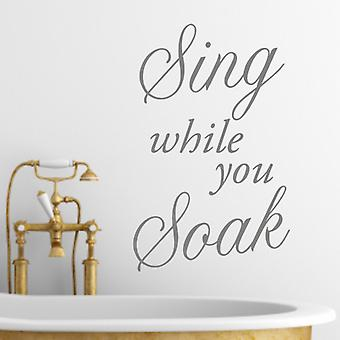 Sing Wall Quote Sticker