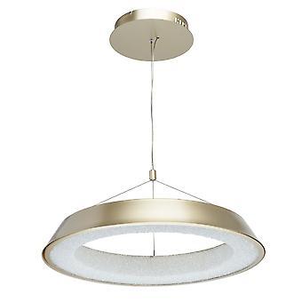 Glasberg - pendentif LED réglable grand Matt Gold et blanc 703011001