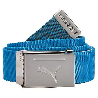 PUMA reversible Web belt men's fabric belt azure blue