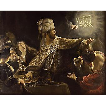 Belshazzar-s Feast,Rembrandt,50x40cm