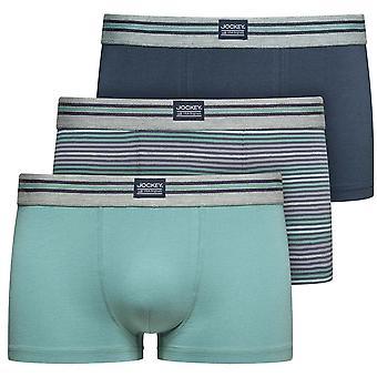 Jockey Cotton Stretch 3-Pack Short Trunks, Mineral Blue / Navy / Stripe, X-Large
