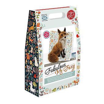 Fabuloso Mr Foxy aguja Felting kit