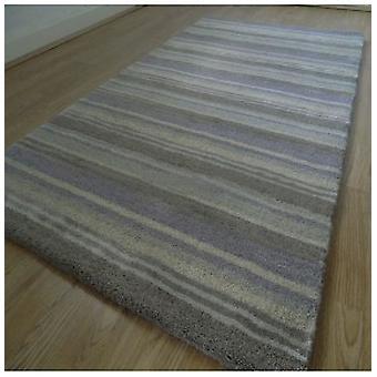 Rugs -Handloom Multi Stripe - Lavender