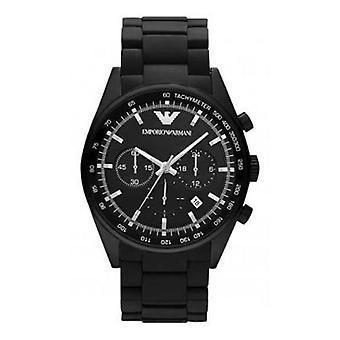 Emporio Armani Ar5981 - Mens Black Dial Classic Chrono Watch