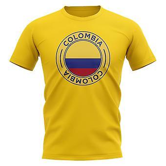 Colombia Football Badge T-Shirt (Yellow)