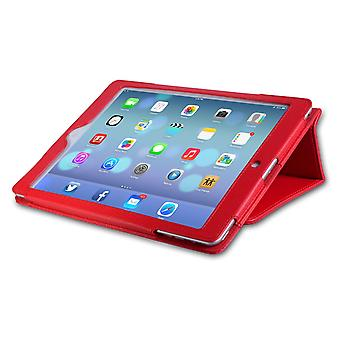 Caseflex iPad Air Textured Faux Leather Stand Cover Red