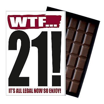 Grappige 21e verjaardag cadeau onbeleefd ondeugende presenteren voor hem of haar 85g chocolade kaart IYF112