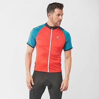 Nuovo Dare 2B Uomini's Ciclismo preciso Full zip Jersey Orange