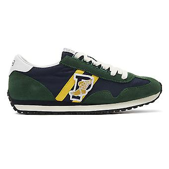 Ralph Lauren Train 90 Mens Green / Navy Trainer