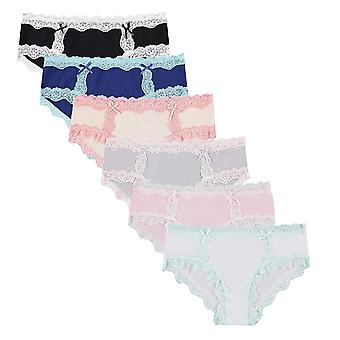 Gratis tot Live 6 pack vrouwen ' s all over Lace trim Hipster, Multicolor, grootte X-Large