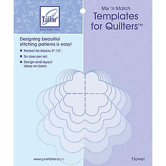 Mix'n Match Templates For Quilters 6 Pkg Flower Jt400 418