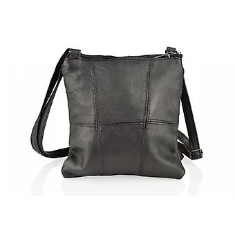 Woodland Leather Two Zip Small Cross Body Bag