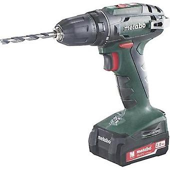 Metabo BS 14.4 Cordless drill 14.4 V 2 Ah Li-ion incl. spare battery, incl. case