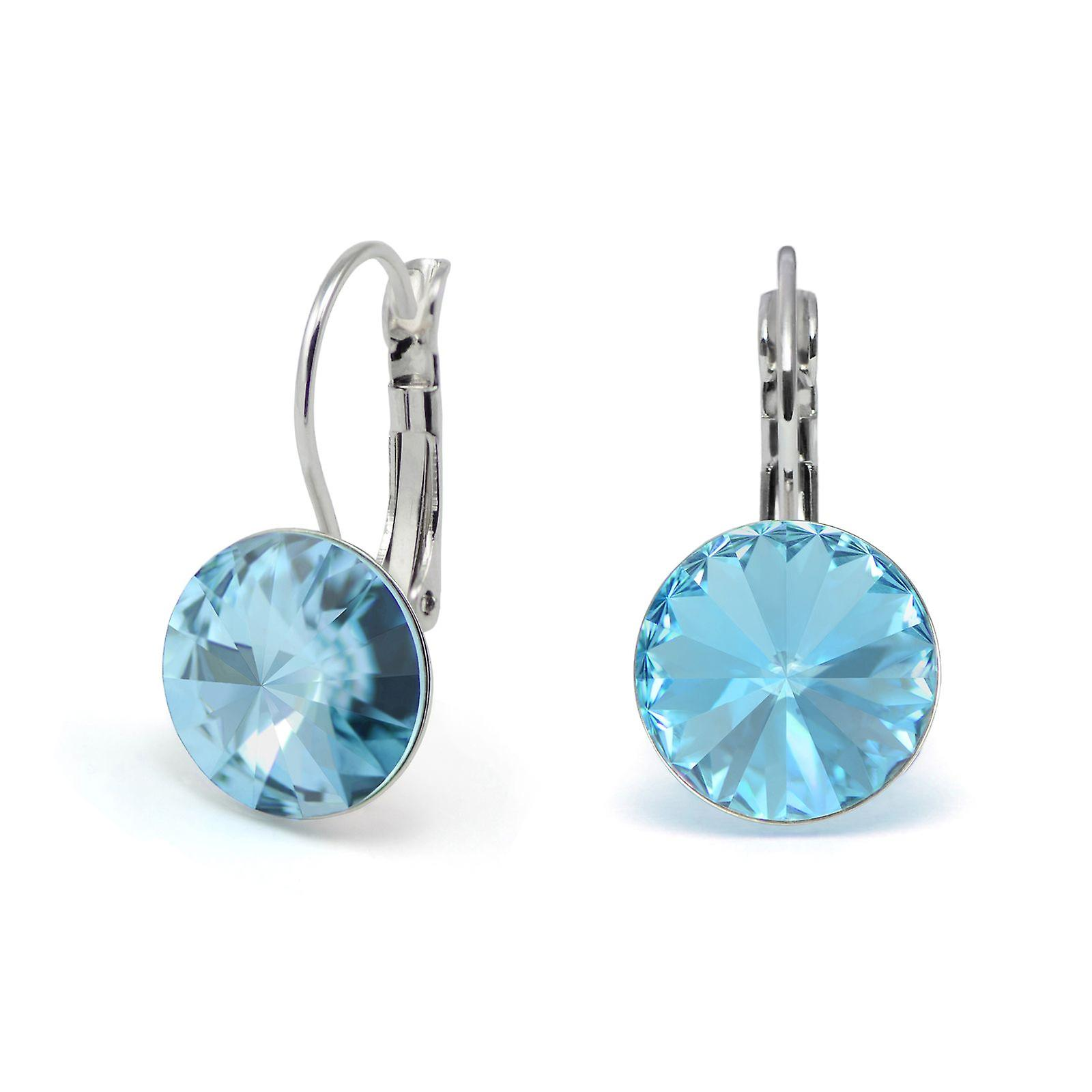 Crystal earrings Aquamarine EMB 1.2