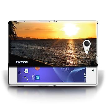 STUFF4 Case/Cover for Sony Xperia M2/Beach/Sunset Scenery