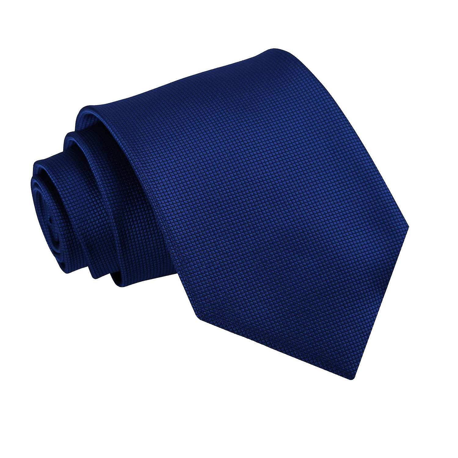 Solid Check Royal Blue Tie